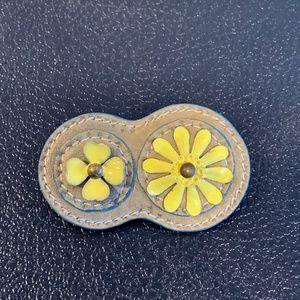 Miu Miu Yellow Flower Brooch